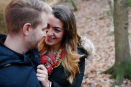 Couple in the woods - engagement shoot norwich