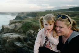 Wife and Daughter on the cliffs in spain