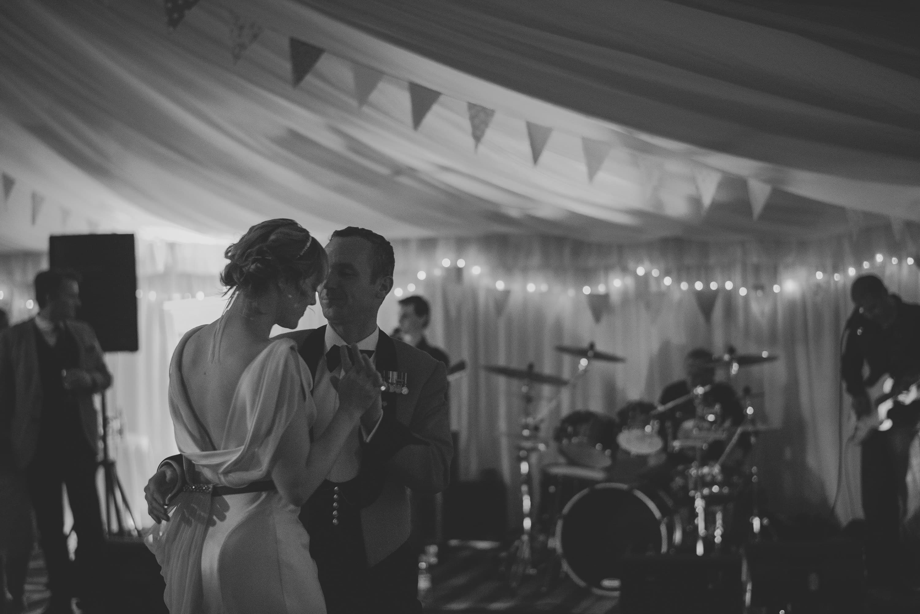Bride and Groom Dancing in marquee - Norfolk Wedding