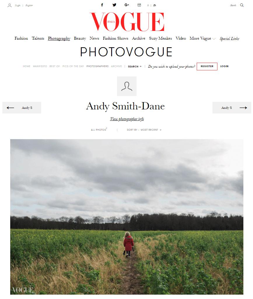 Featured in Vogue Italia 2