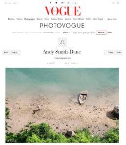 Featured in Vogue Italia 1